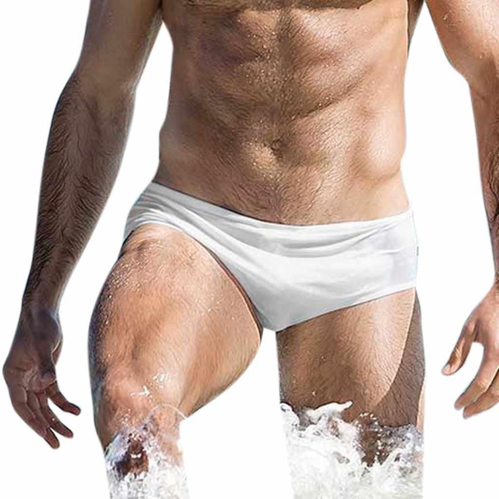 073ad30403 ... Fashion Men Breathable Trunks Pants Beach Solid Color Running Swimming  Underwear Swim Trunks Boxer Briefs Beachwear ...