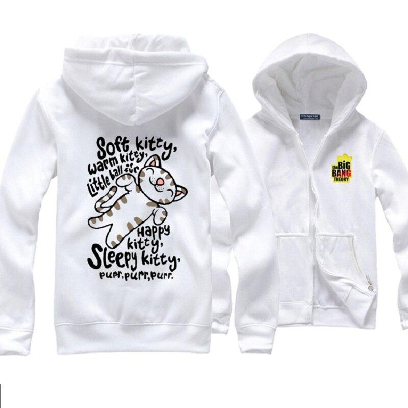 La Théorie du Big Bang Ventilateurs Qui Portent Sheldon Cooper Doux Kitty vestes à capuche femmes Sciences Geek sweat à capuche chat Cadeau