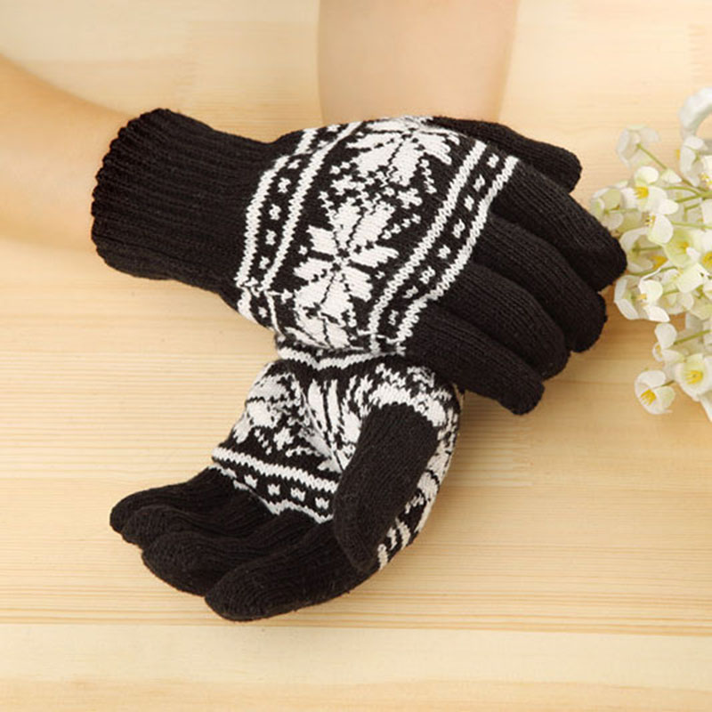 New Wool Winter Gloves High Quality  Men Women Thick Warm Short Knitted Unisex Wrist Gloves 8Z