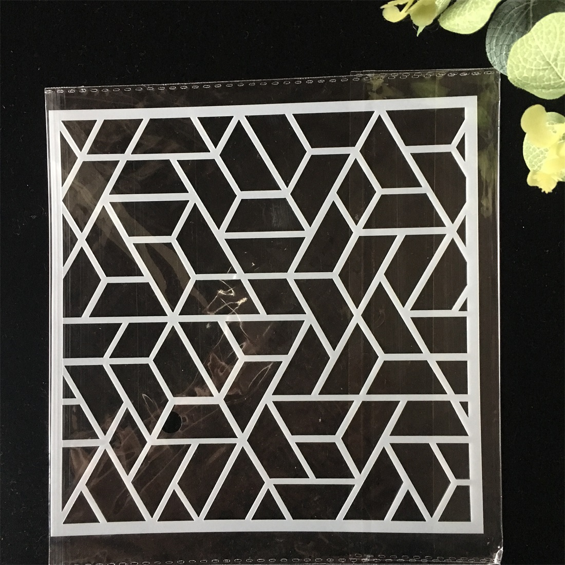5.9inch Hollow Line DIY Layering Stencils Wall Painting Scrapbook Coloring Embossing Album Decorative Card Template
