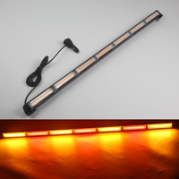 HEHEMM 126W COB LED Light Bar Strobe Warning Light Emergency Beacon Flashing Lamp Amber Red Blue