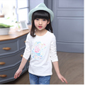 little teenage kids clothes floral flowers t-shirt for girl tops girls clothes 8 10 12 years white pink tees children clothing
