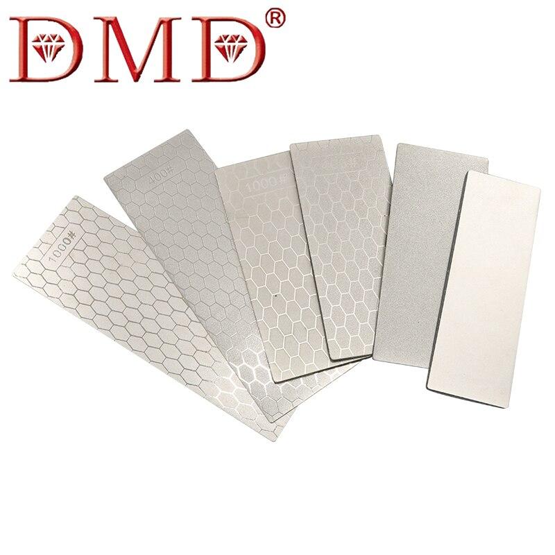 DMD Pedra De Afiar De Diamante Único Lado Quadrado Cheio De Areia de Moagem Ferramenta de Polimento Jade Selo 400 #1000 # Grit malha H2