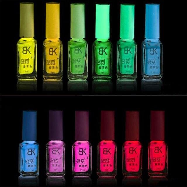 BK Лак Для Ногтей Световой Glow В Dark Флуоресцентный Лак Для Ногтей неон Световой Nail Art Лак Польский Конфеты 20 Цветов Ногтей польский