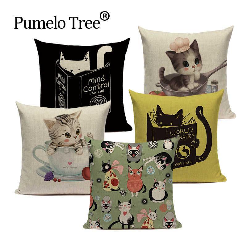 เบาะรองนั่งแฟชั่นน่ารักสัตว์ Cat หมอน 45 ซม.x 45 ซม.แบบกำหนดเองของขวัญวันวาเลนไทน์ Handmade โยนหมอนอิงหมอน