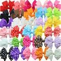 30pcs/set  baby girl  hair  ribbon bow Prong Alligator Hairpins barrettes hair clip mixed kids  Boutique hair accessories