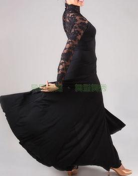 ballroom dancing modern lace long sleeve turtleneck dress lace sleeve elegance W12026 modern dance