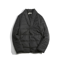New Japanese Retro Original Personality Ming Series Line Dig Bag Short Cotton Padded Jacket Collar Double Male