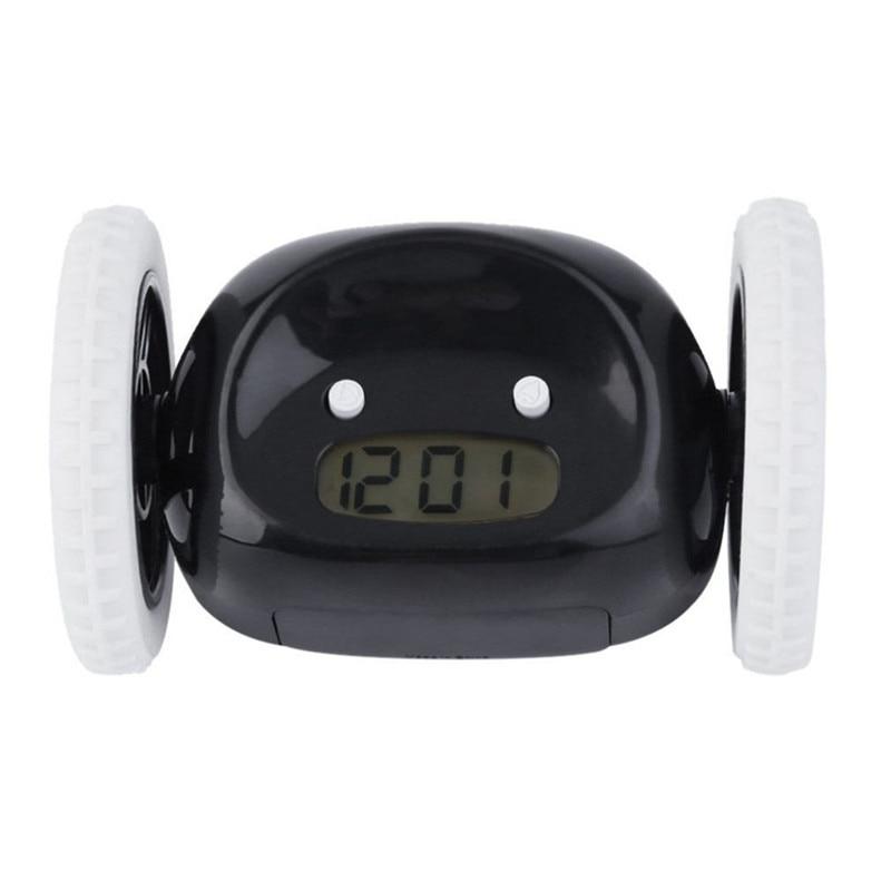 Hot-moving Runaway Running On Wheels Digital Lcd Alarm Clock Chase The Alarm Clocks Home & Garden