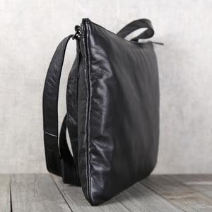 Image 2 - AETOO Mens handmade cowhide shoulder shouldered Baotou cowhide casual horizontal leather bag