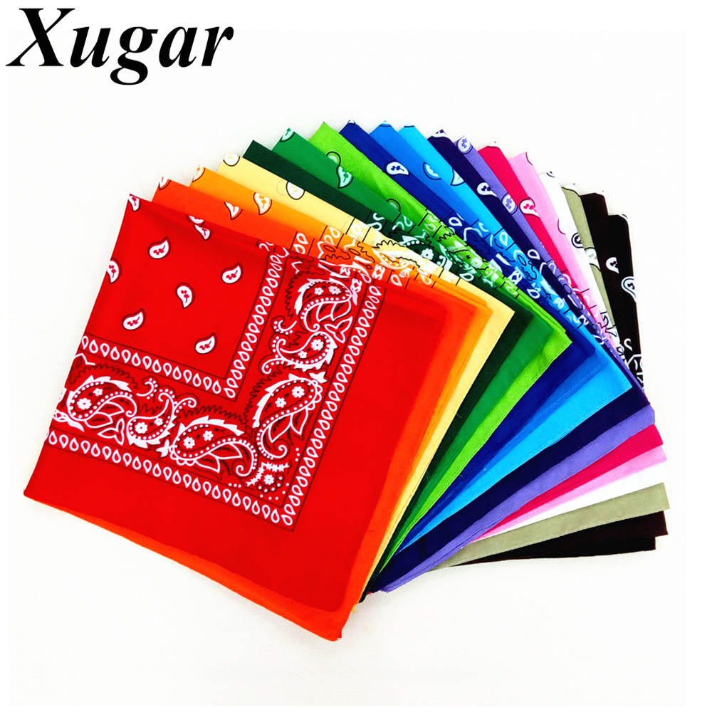 Women Hair Accessories Linen Bandana Scarf Square Fashion Female Bandanas   Headwear   Rock Cool Girls Multi Headbands