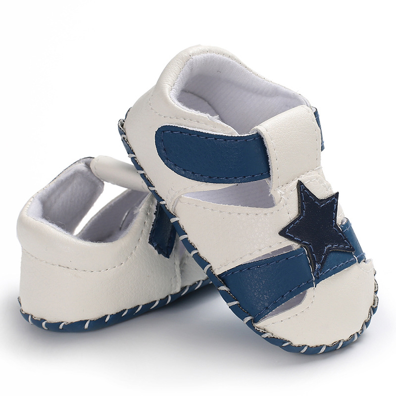Stars Anti-Slip Shoes Newborn Baby Boys Girls Crib Shoes PU Leather Soft Sole Prewalker Sandals Infant Shoes