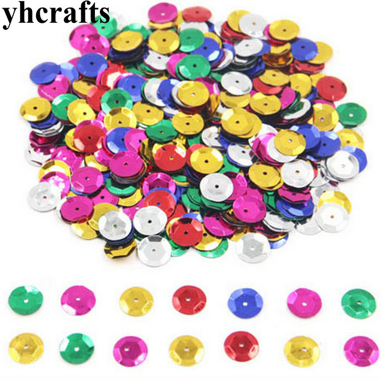 20gram/Lot. 10mm Concave Round Sequins Craft Material Kindergarten Crafts Creative Activity Item Color Learning Make Your Own