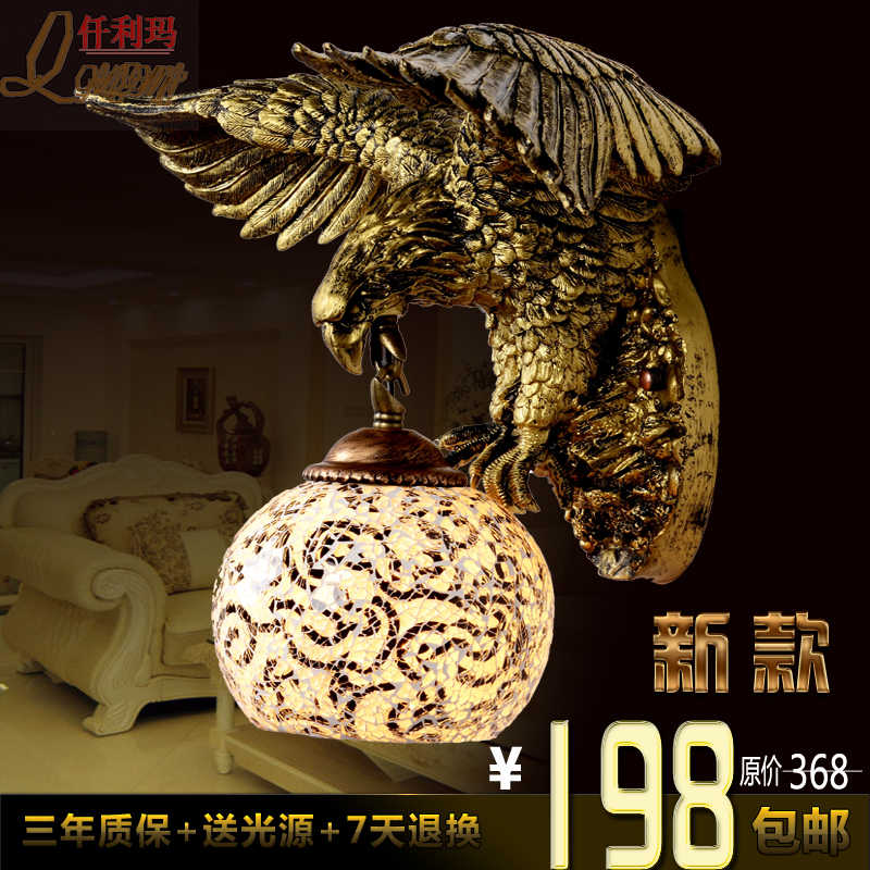 American Eagle personalized retro living room bedroom wall lamp European artistic new shipping|лампа наклейка|светильник