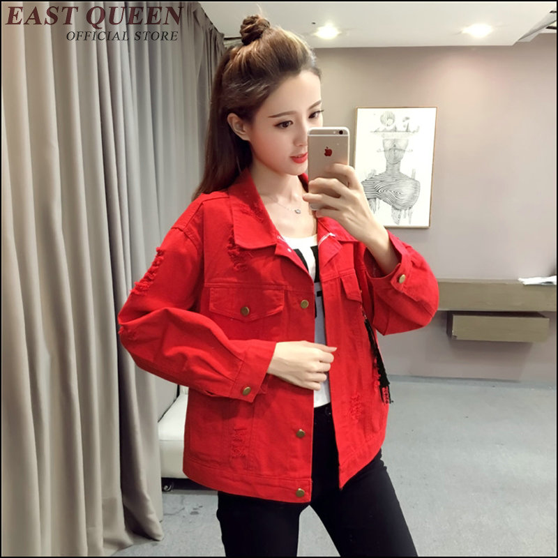 Harajuku Outerwear & Coats women jacket holiday boho chic blouse Turn-down Collar loose solid color loose long sleeves AA3470 a