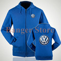 4S shop VOLKSWAGEN logo zipper Fleece sweatshirt VW jacket for women and men