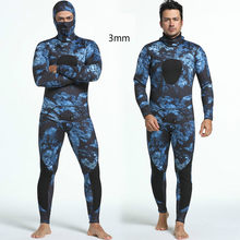 Mounchain Diving suit neoprene 3mm men pesca diving spearfishing wetsuit snorkel swimsuit Split Suits combinaison surf wetsuit(China)