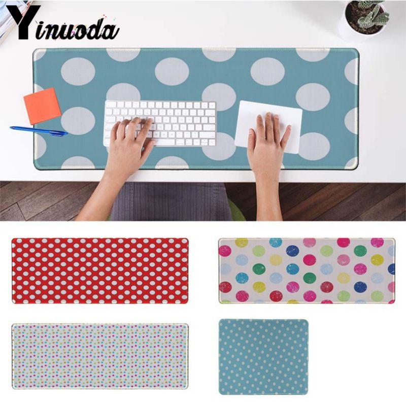 Yinuoda Computer Keyboard Mat CUTE blue polka dot High Speed New Mousepad Size for 18x22cm 20x25cm 25x29cm 30x90cm 40x90cm