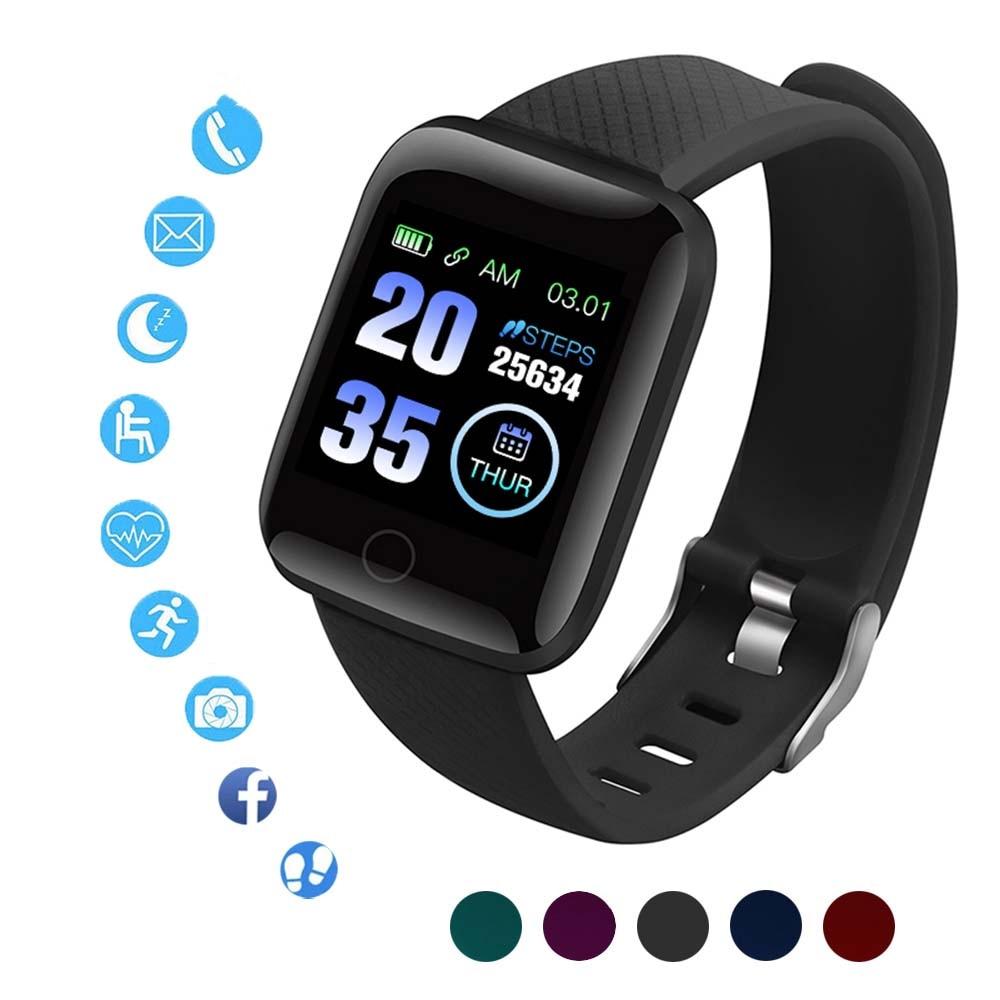 D13 Relógios Inteligentes 116Plus Heart Rate Relógio Inteligente Pulseira Sports Relógios Banda Inteligente Andriod Smartwatch À Prova D' Água