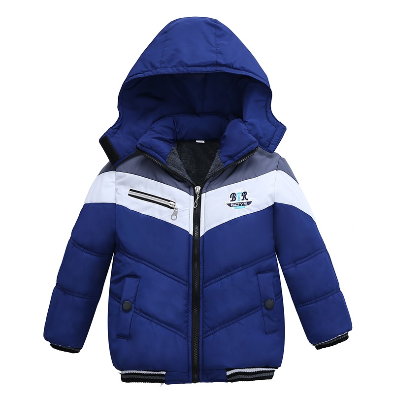 New Fashion Patchwork Boys Jacket&Outwear Warm hooded Winter jackets for boy Girls coat Children Winter Clothing Boys Coat