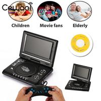 New Real HD 7 Inch LCD Display VCD DVD Media Player EU Plug Portable Support MP3