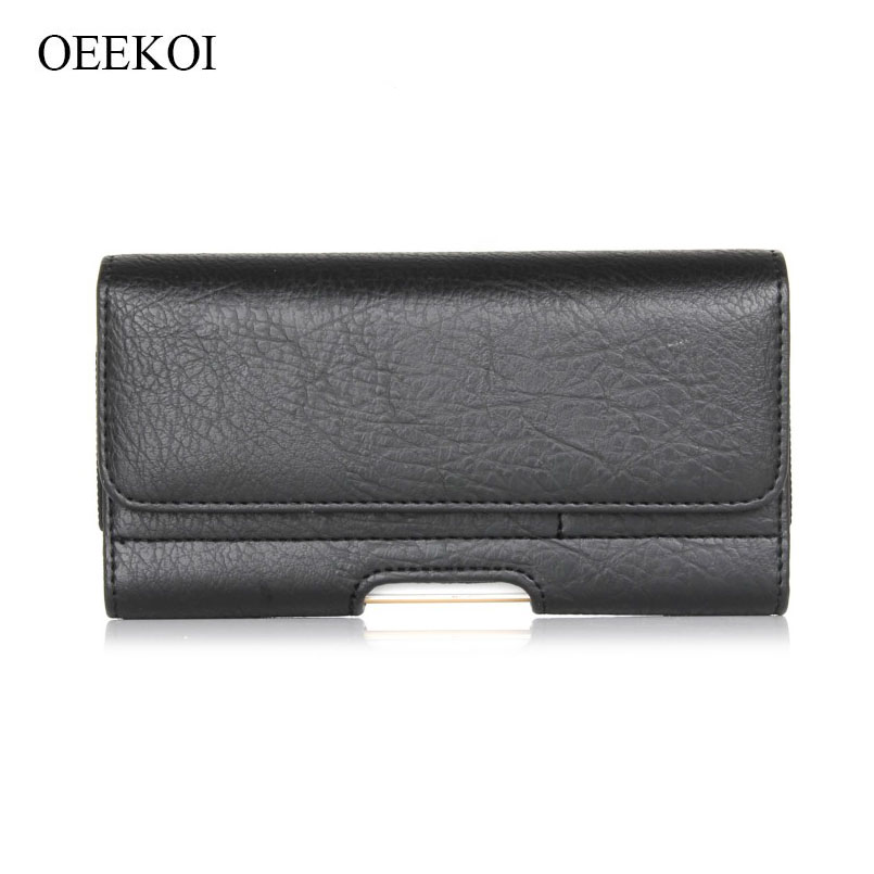 OEEKOI Stone Pattern PU Leather Waist Belt Clip Pocket Pouch Phone Holster Case for <font><b>Digma</b></font> <font><b>LINX</b></font> <font><b>A501</b></font> 4G/VOX S502F 3G/CITI Z530 3G image