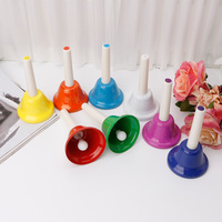 Rhythm 8 Note Hand Bell Set Musical Instrument Percussion For Child Kids Gift 20 12