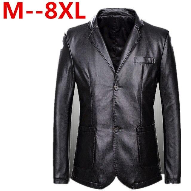4db25e88ab21 8XL 6XL 5XL Men s leather Jacket design Coat Men casual motorcycle leather  jacket Mens veste en cuir jackets Windbreaker Coats
