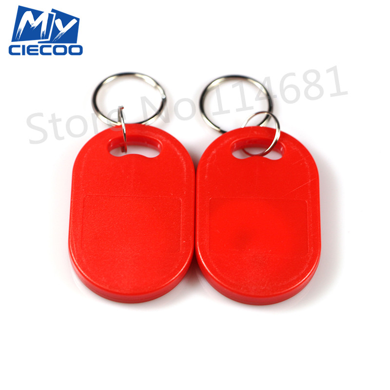 5Pcs Red Color 125Khz Key Keyfobs EM4100  RFID Tag Proximity ID Token Key  Tags  For Door Access Control hw v7 020 v2 23 ktag master version k tag hardware v6 070 v2 13 k tag 7 020 ecu programming tool use online no token dhl free