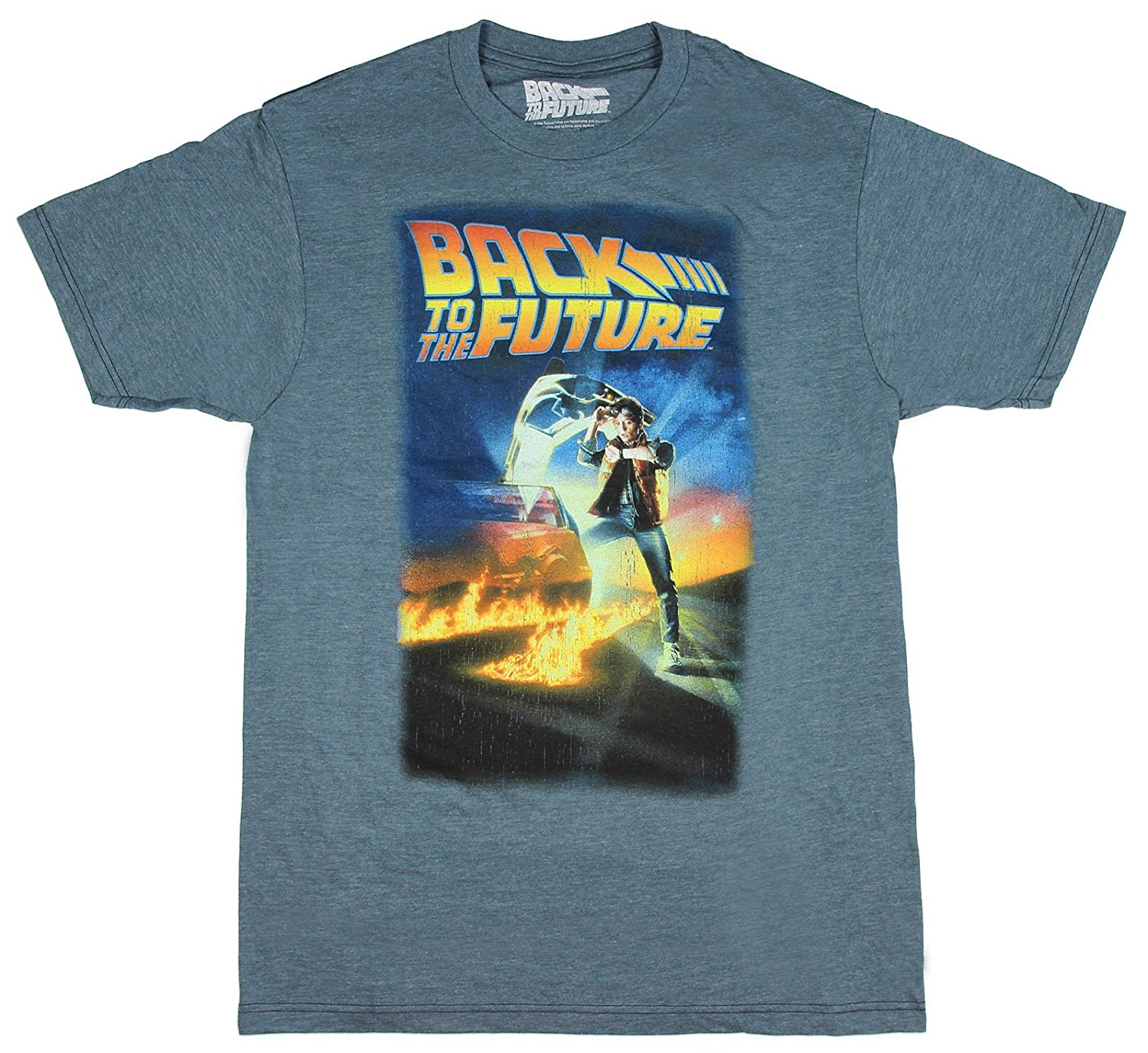 Gildan Back To The Future Mens Distressed Poster T-Shirt
