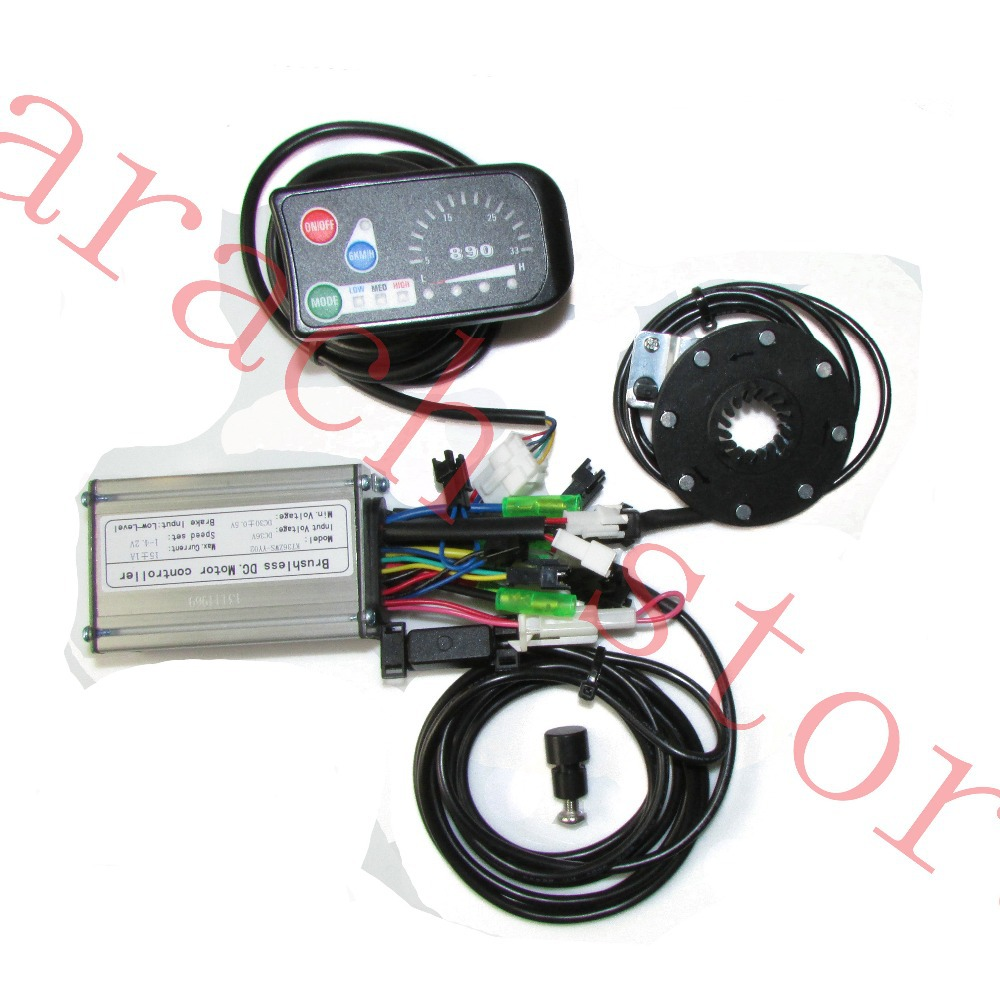 36V electric bike display   ,controller with hall sensor , electric bike kit , electric bicycle motor suunto bike sensor