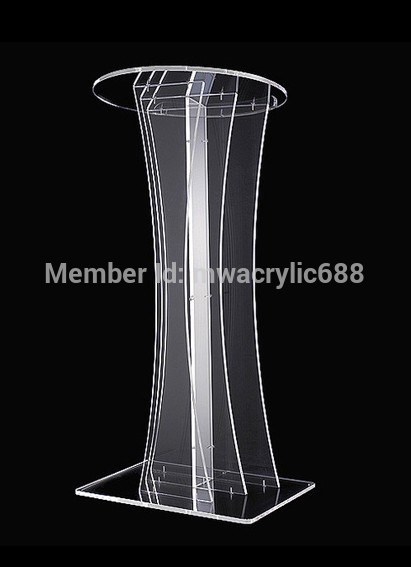 Free Shipping Transparent Modern Design Cheap Clear Acrylic Lectern