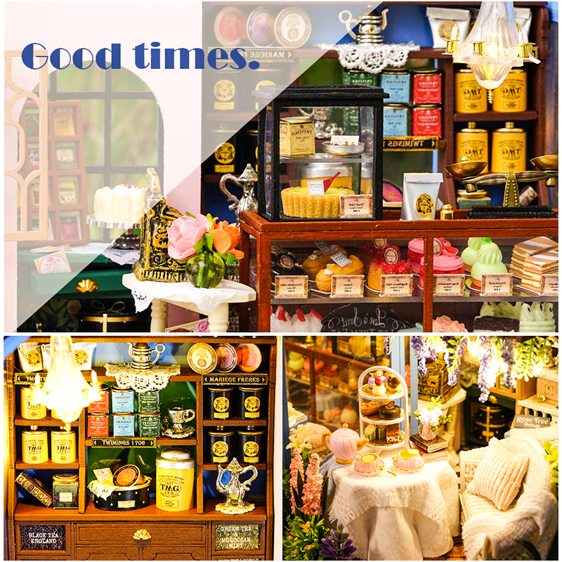 Image 4 - CUTEBEE DIY Dollhouse Wooden doll Houses Miniature Doll House Furniture Kit Casa Music Led Toys for Children Birthday Gift A68D-in Doll Houses from Toys & Hobbies