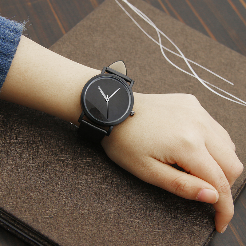 Mysterious Innovation Creative Quartz Watches 2017 Hot Fashion Brand BGG Black Watch Simple Wristwatches Soft comfortable band