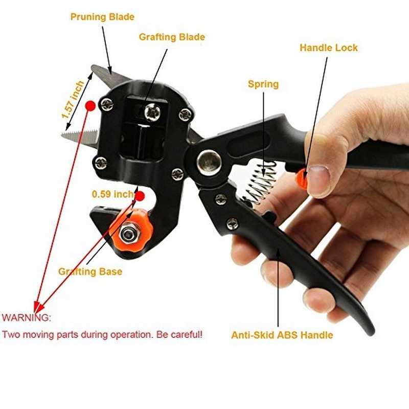Сад набор инструментов прививки инструменты с 2 лезвия сумка секаторы ножницы оправдают резки секатор Tapetool садовые инструменты
