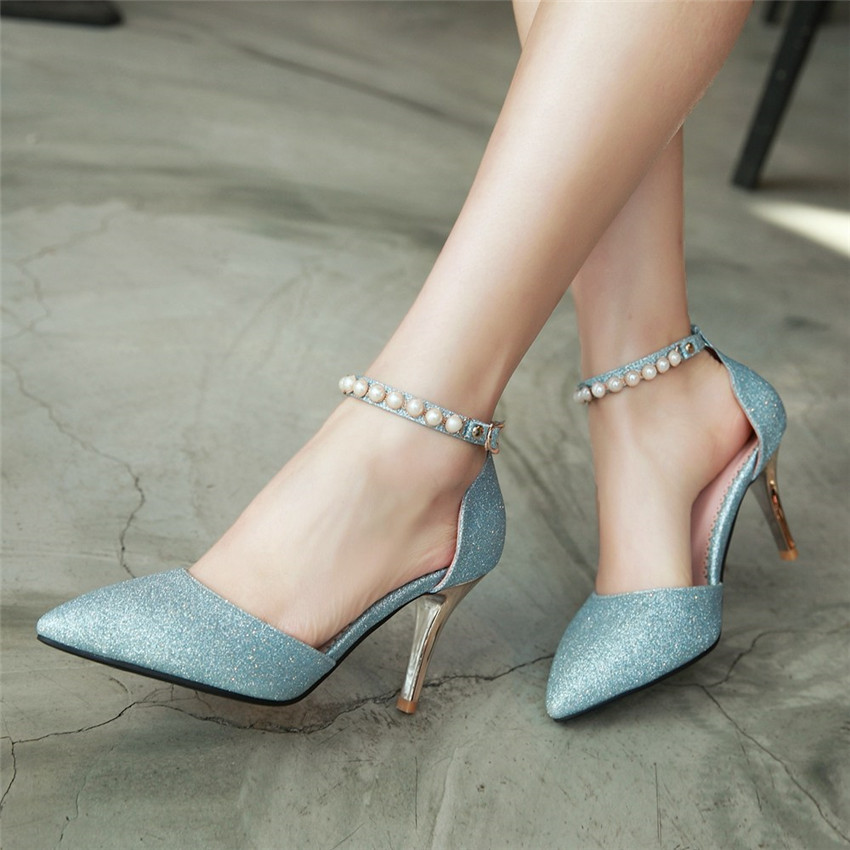 High Heels Women Pumps Stiletto Woman Party Wedding High Heel Shoes Kitten Heels Plus Size 34 - 40 41 42 43