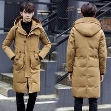 B Hooded Long Winter Duck Down Parkas Men Casual Clothing Outwear Down Jackets Male Thick Fashion Puffer Jacket plus size 3XL plus size s xxl winter jackets women new fashion white duck down jacket long thick parkas for women winter free shipping b1631
