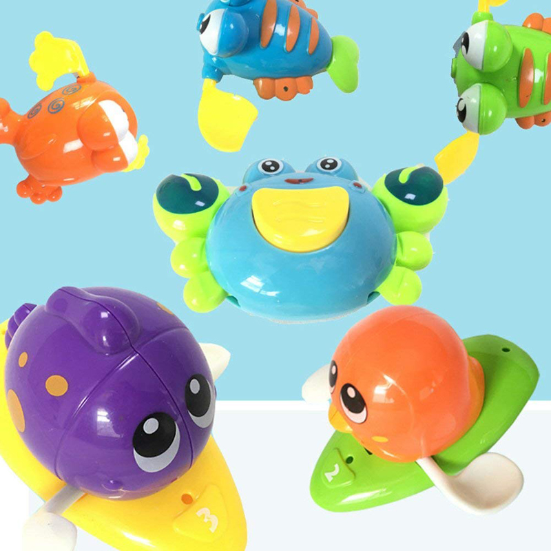 Baby Bath Shower Toy Wind Up Clockwork Fun Ship Turtle Fish Swimming Water Summer Play Infant Kids Pool Mobile Phone Cases Soft And Light Phone Bags & Cases