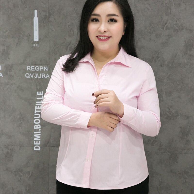 Women Shirts 2018 Women Tunic Plus Size 7XL 8XL 9XL Office Ladies Shirts Solid color short Or Long Sleeve Blusas Oversized Shirt