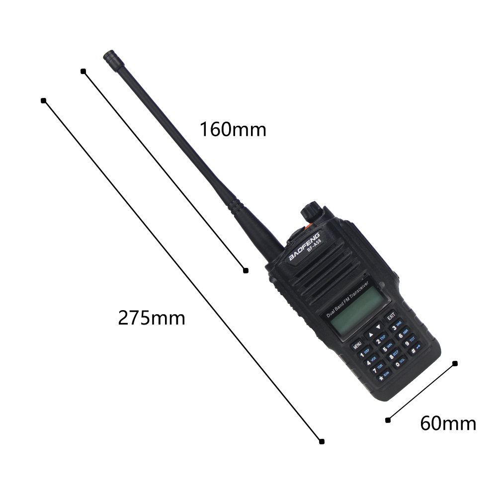 Image 5 - De Baofeng BF A58 Walkie Talkie IP68 impermeable 128CH de doble banda UHF, VHF Radio de dos vías transmisor FM portátil CB estación de Radio aficionadoTransceptor   -
