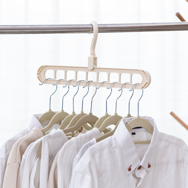 Multi-port Support Circle Hanger Clothes Drying Rack Multifunction Plastic Scarf Clothes Hangers Hangers Storage Racks