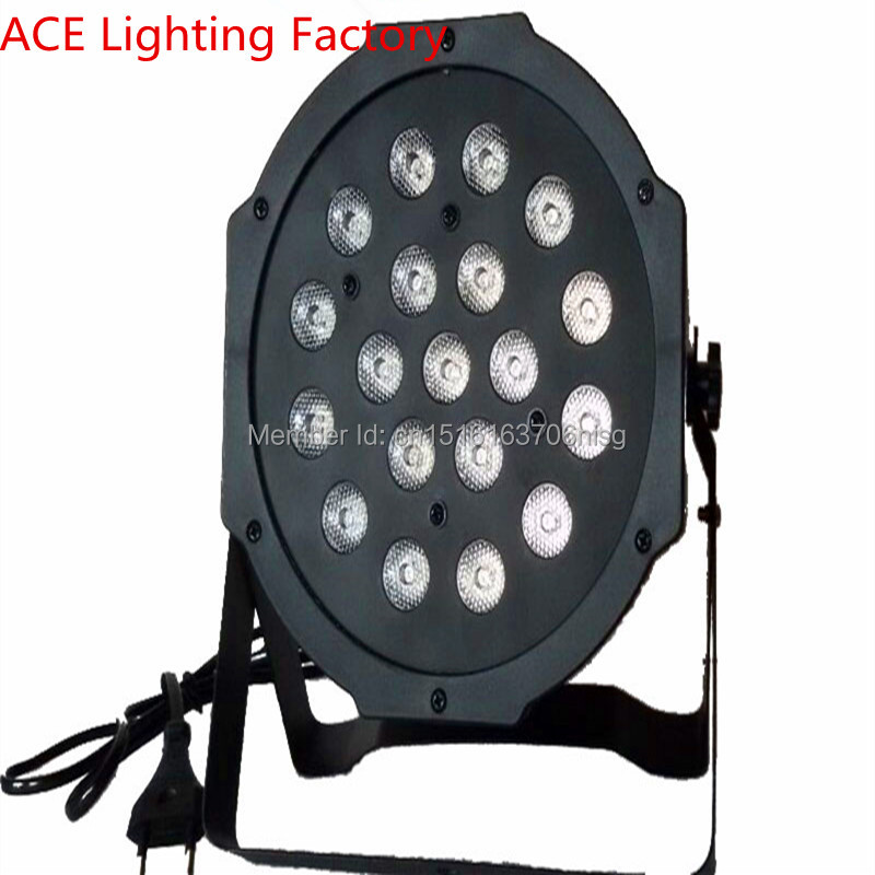 ФОТО Hot 19x3w led flat par rgb dmx DJ stage lighting fast shipping