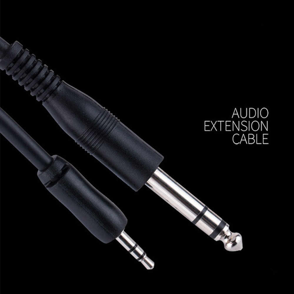 Kabel Aux 3.5 Mm Ke 6.5 Mm Audio Kabel Jack 3.5 untuk 6.35 Male Tali untuk Gitar mixer Amplifier CD Player Speaker Baru