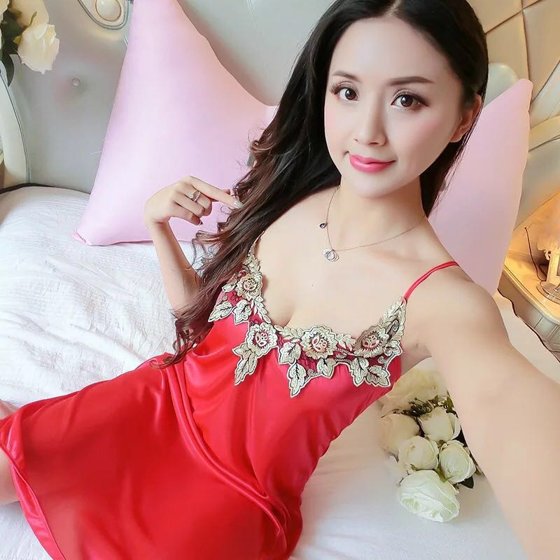 2018 New Arrival Lace Spaghe Strap Sexy Lingerie women nightwear sexy sleepwear for women lingerie   sleepshirts   sexy   nightgowns