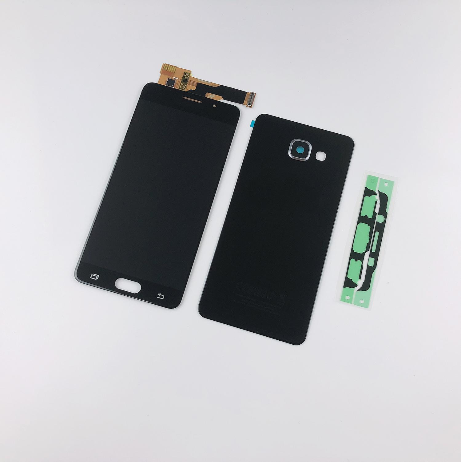 For <font><b>Samsung</b></font> Galaxy A3 2016 <font><b>A310</b></font> A310F A310H A310M A310Y <font><b>LCD</b></font> Display Touch Screen Digitizer Assembly+Housing Battery Back Cover image