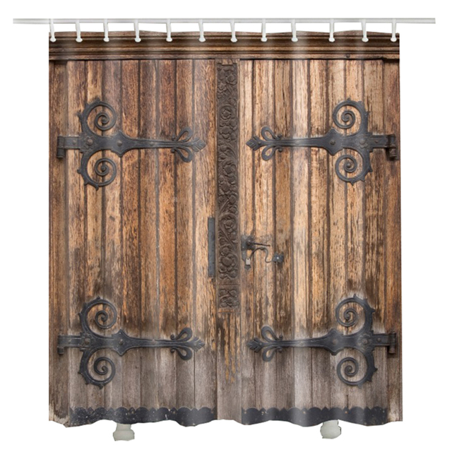 Vintage Wood Door Shower Curtain Europe Style Retro Door Luxury Video props Bathroom Curtains  sc 1 st  AliExpress.com & Vintage Wood Door Shower Curtain Europe Style Retro Door Luxury ... pezcame.com