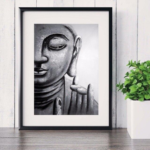 Buddha Zen Artwork Cotton Canvas Art Print Painting Poster Wall ...