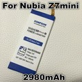 2980 mah batería del teléfono li3823t43p6ha54236-h uso para zte nubia z7 mini z7 mini nx507j 5.0 pulgadas nubia z7mini teléfono