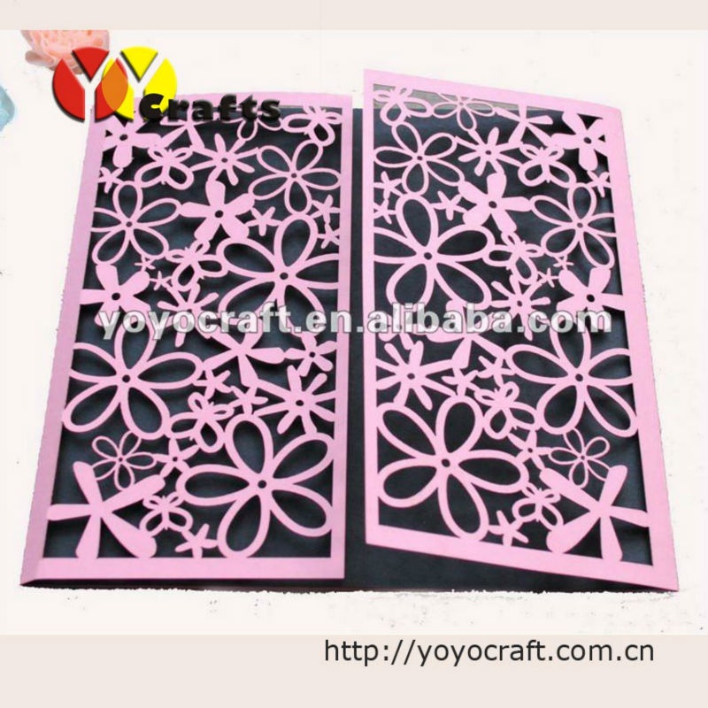 50piece Lot With Flower Ribbon Wedding Invitations Scroll Invitation Card Free Shipping