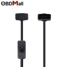 Beste ODB OBD2 Diagnose Kabel 16Pin Männlichen Zu 16Pin Weibliche Kabel OBD II OBD 2 mit Schalter Diagnose Stecker für EML327 adapter